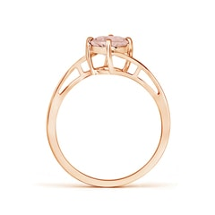 Toggle Classic Round Morganite Solitaire Bypass Ring