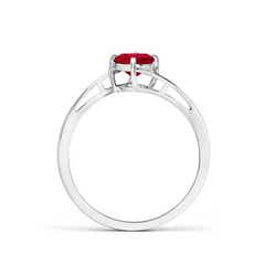 Toggle Classic Round Ruby Solitaire Bypass Ring