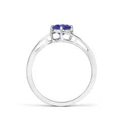 Toggle Classic Round Tanzanite Solitaire Bypass Ring