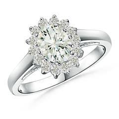Princess Diana Inspired Moissanite Halo Ring
