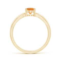 Toggle Prong-Set Solitaire Citrine Split Shank Ring