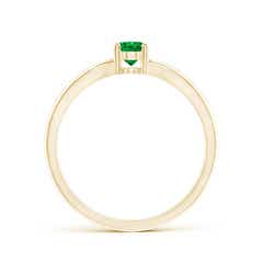 Toggle Prong-Set Solitaire Emerald Split Shank Ring