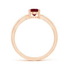 Toggle Prong-Set Solitaire Garnet Split Shank Ring