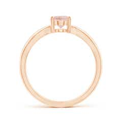 Toggle Prong-Set Solitaire Morganite Split Shank Ring