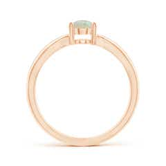 Toggle Prong-Set Solitaire Opal Split Shank Ring