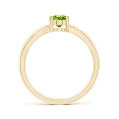 Toggle Prong-Set Solitaire Peridot Split Shank Ring