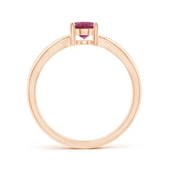 Toggle Prong-Set Solitaire Pink Tourmaline Split Shank Ring