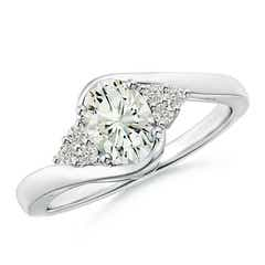 Twisted Shank Oval Moissanite Bypass Ring