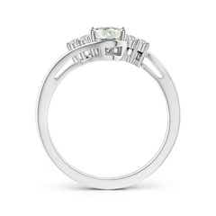 Toggle Twisted Shank Oval Moissanite Bypass Ring