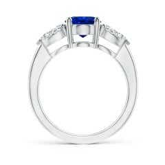 Toggle GIA Certified Sri Lankan Sapphire Ring with Pear Diamonds