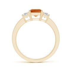 Toggle Citrine and Diamond Three Stone Ring