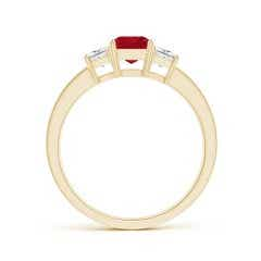 Toggle Ruby and Diamond Three Stone Ring