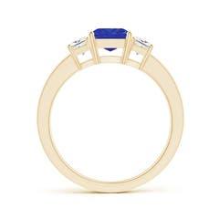Toggle Tanzanite and Diamond Three Stone Ring