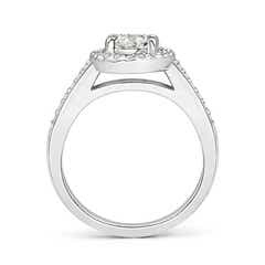 Prong Set Oval Moissanite Halo Ring