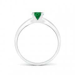 Toggle Solitaire Round Emerald Tapered Shank Ring