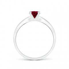 Toggle Solitaire Round Garnet Tapered Shank Ring