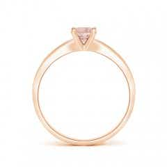 Toggle Solitaire Round Morganite Tapered Shank Ring