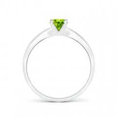 Toggle Solitaire Round Peridot Tapered Shank Ring