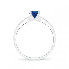 Toggle Solitaire Round Sapphire Tapered Shank Ring