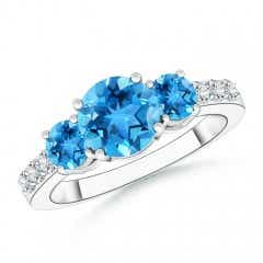 Angara Trillion Swiss Blue Topaz Cocktail Ring with Diamond Accents 2p0uCPXyN