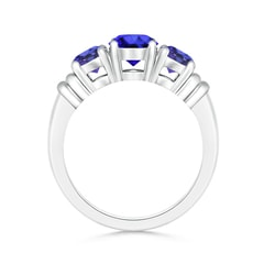 Toggle Vintage Style Three Stone Tanzanite Wedding Band