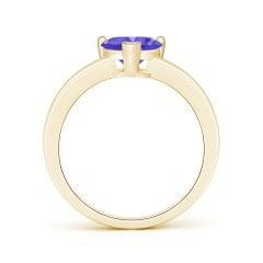 Toggle Solitaire Heart Shaped Tanzanite Promise Ring