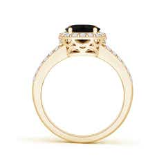 Toggle Oval Black Onyx Split Shank Halo Ring