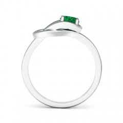 Toggle Solitaire Emerald Infinity Knot Ring