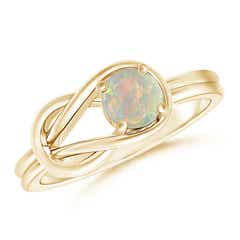 Solitaire Opal Infinity Knot Ring