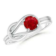 Angara Six Prong Solitaire Ruby Wedding Ring in 14k Yellow Gold ZfWXWX4fdT