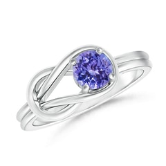 Natural Solitaire Tanzanite Infinity Knot Ring