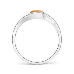 Toggle Semi Bezel-Set Solitaire Round Citrine Bypass Ring