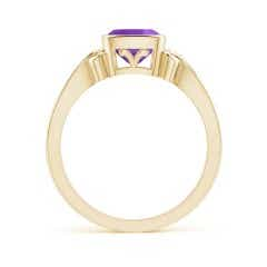 Toggle Vintage Style Cushion Amethyst Solitaire Ring