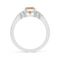 Toggle Vintage Style Cushion Citrine Solitaire Ring
