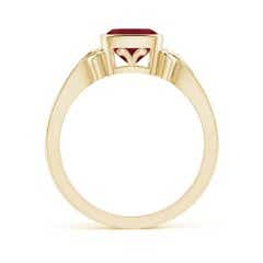 Toggle Vintage Style Cushion Garnet Solitaire Ring