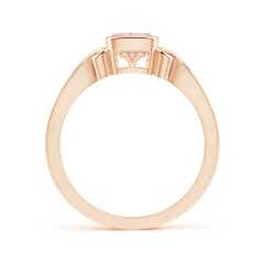 Toggle Vintage Style Cushion Morganite Solitaire Ring