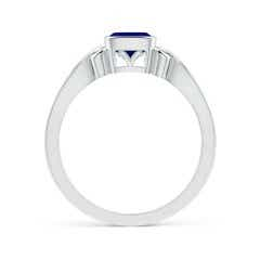 Toggle Vintage Style Cushion Sapphire Solitaire Ring