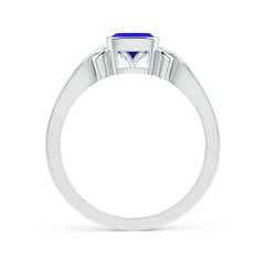 Toggle Vintage Style Cushion Tanzanite Solitaire Ring