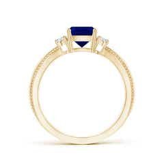 Toggle Cushion Sapphire Split Shank Ring with Rope Detailing