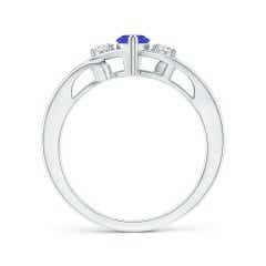 Toggle Marquise Tanzanite Split Shank Ring with Diamonds