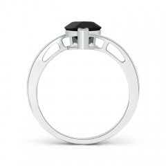Pear Shaped Solitaire Black Onyx Bypass Ring