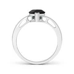 Toggle Solitaire Pear-Shaped Black Onyx Bypass Ring