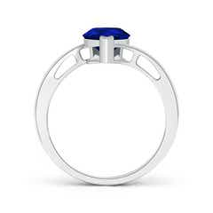 Toggle Solitaire Pear-Shaped Sapphire Bypass Ring