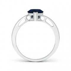 Toggle Solitaire GIA Certified Pear-Shaped Sapphire Bypass Ring