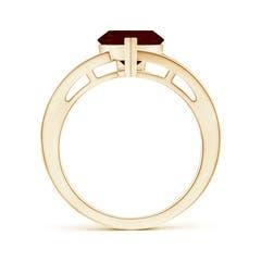 Toggle Split Shank Trillion Garnet Ring