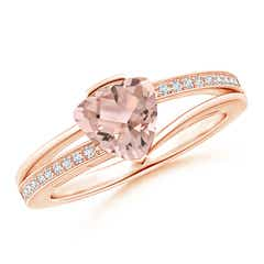 Split Shank Trillion Morganite Ring