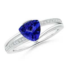 Split Shank Trillion Tanzanite Ring