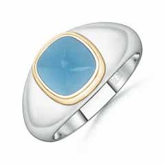 Sugarloaf Cut Swiss Blue Topaz Solitaire Ring