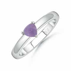 Sugarloaf Trillion Amethyst Solitaire Ring
