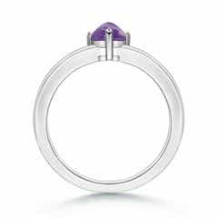 Toggle Sugarloaf Trillion Amethyst Solitaire Ring